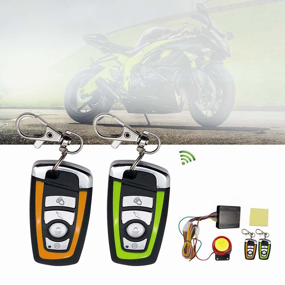 Universal Motorcycle Alarm System Motorbike Scooter Anti-theft Security Alarm System With Engine Start Remote Control Key
