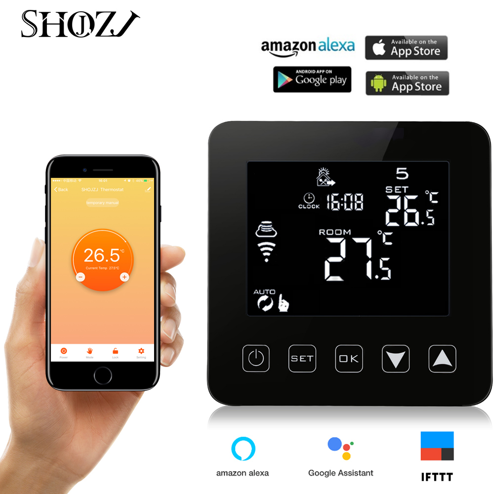 Alexa Voice Google Assistant Heating Thermostat Control Electric Floor Heating Programmable Thermostat Temperature Controller