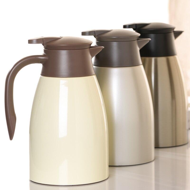 Cafetière en acier inoxydable 2L pour cuisine isolation boisson bouteille d'eau Thermose bouilloire cruche flacon à vide tasse maison Pots thermiques