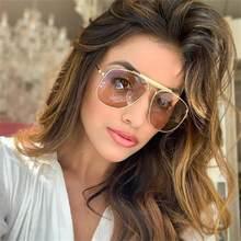 Lunettes de soleil Orange pour femmes, Vintage, pilote, monture de luxe italienne, styliste pour hommes, lentilles teintées, Sexy, grande collection 2020