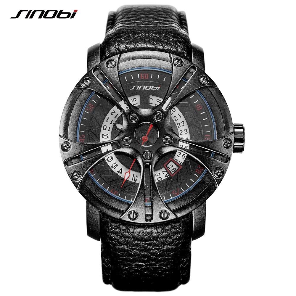 Reloj para hombres SINOBI reloj militar para hombre águila garra correa de  cuero deporte cuarzo relojes de alta marca de lujo reloj masculino 6ed90e4ee28a