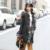 Mujeres de la manera Abajo Abrigo de Invierno 2016 Nuevas Señoras de la Chaqueta Con Capucha mujeres Largos Abrigos Chaquetas de Las Mujeres de Cuello de Zorro Plateado Y108
