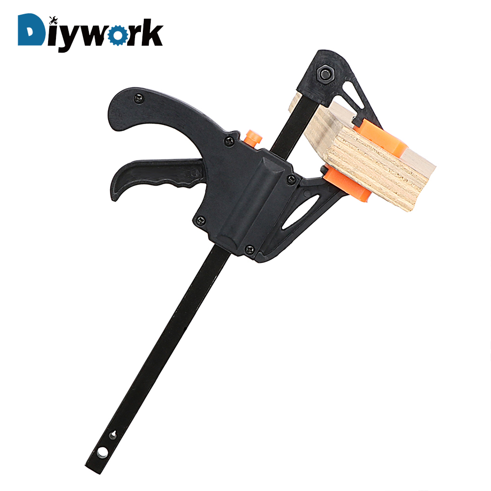 DIYWORK Wooden Board Clip Clamp Ratchet Carpentry Fixed Clip Quick Release Quick Squeeze Woodworking F Folder Clip