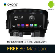 IOKONE Android 4.4 Car DVD Player autoradio for Chevrolet Cruze 2008-2011 with DVR Camera GPS radio stereo GPS navigation WIFI