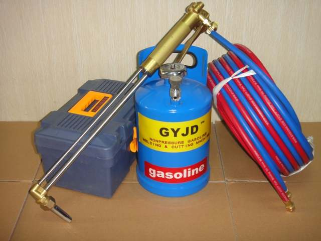 US $486 72  Free shipping GY300C 03 portable Oxy petrol flame cutting  machine oxygen gasoline cutting machine-in Welding Torches from Tools on