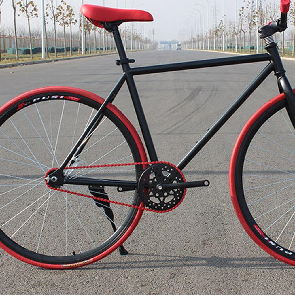 "Bicycle Bike Chain Fixed Gear Track BMX Single Speed Chains 1//2/""x1//8/"" Black"