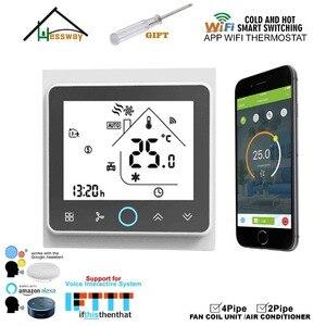 Image 3 - Lapp Mobile WIFI di shouway controlla da remoto linterruttore del termostato di controllo della temperatura domestica per il raffreddamento del Fan Coil
