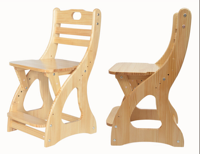 Modern Wooden Study Chair For Student, Children, Kids Furniture Seat Height  Adjustable Student Chair