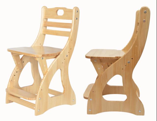 Moderno Em Madeira Cadeira de Estudo Para O Estudante, crianças, Mobília dos miúdos Altura Do Assento Ajustável Cadeira Estudante Cadeira Crianças Cadeira de Madeira de Pinho