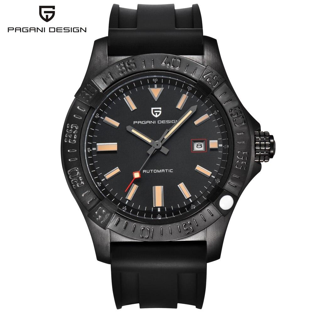 Автоматическая кожаный ремешок Бизнес наручные часы PAGANI Дизайн бренда механические часы Для мужчин мужской часы Relogio Masculino