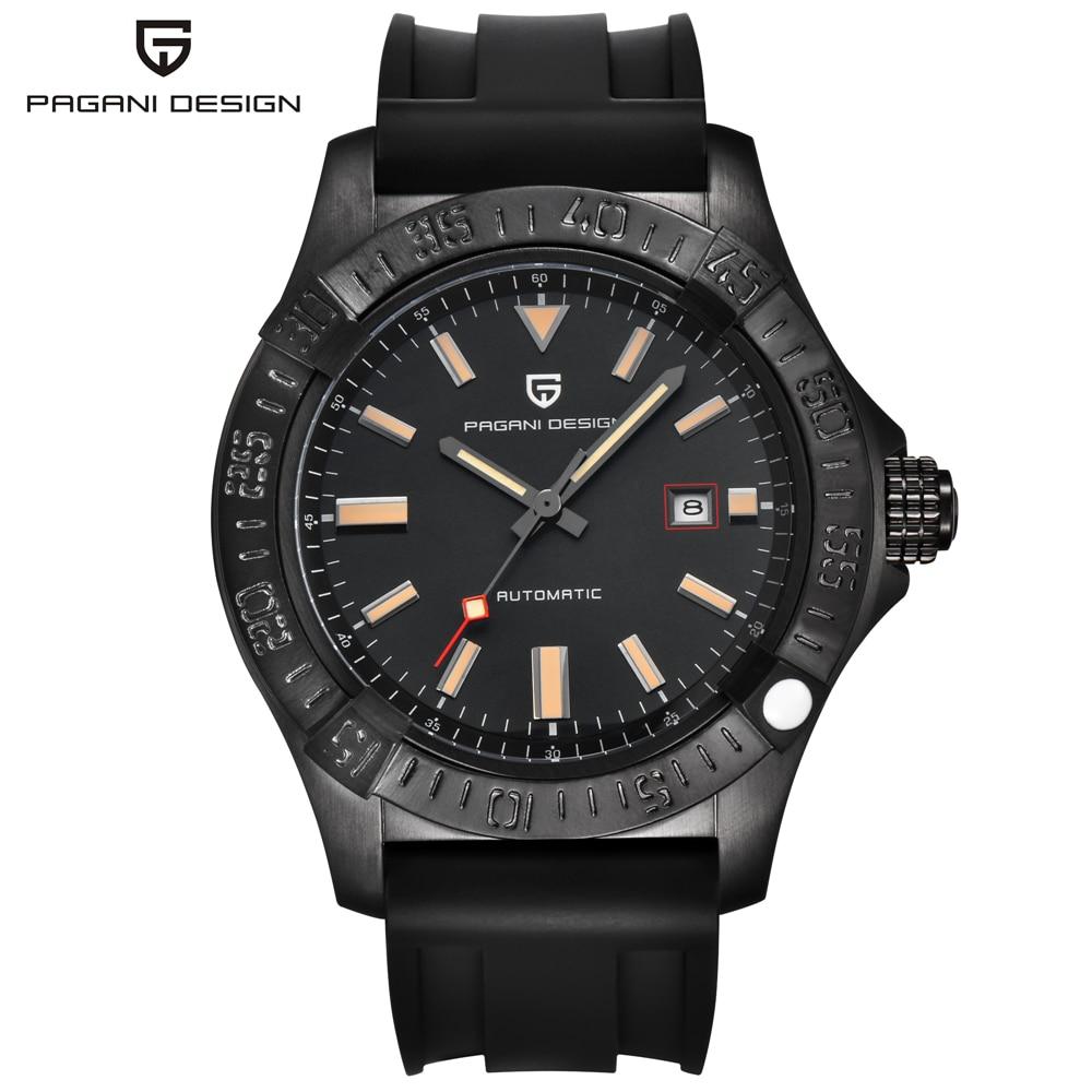 Automatic Leather Strap Business Wist Watch PAGANI DESIGN Brand Mechanical Watch Men Male Clock Relogio Masculino