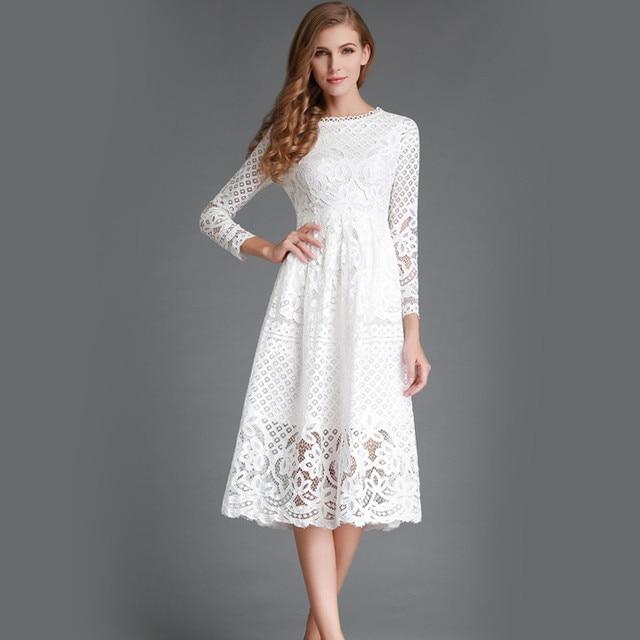 kanten jurk lange mouw
