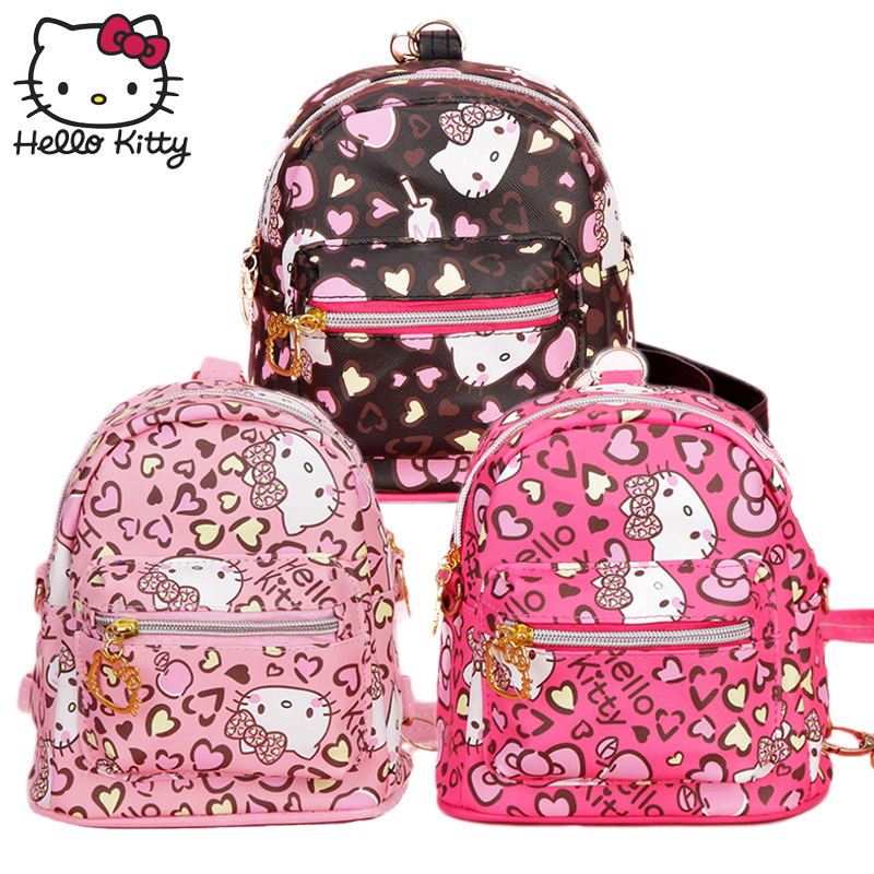 3a675ebdb Hello Kitty Bag Children's Kindergarten Baby Cartoon Small Class KT  Shopping Backpack Waterproof Boy Girl Schoolbag