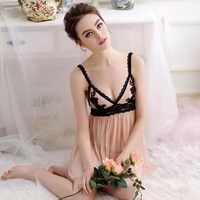 Lisacmvpnel Sexy Frauen Nachthemd + G-String Gnade Französisch Dame Wind Pijama Geschmack Dessous
