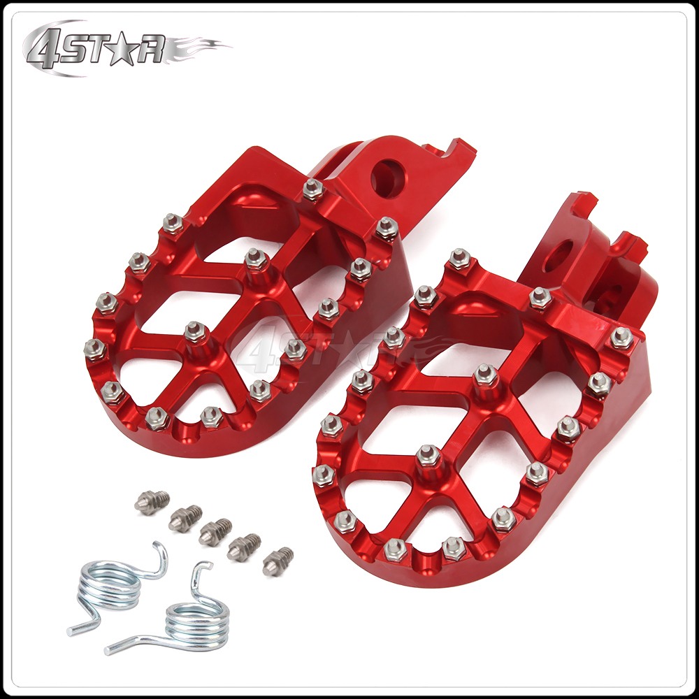 Motorcycle CNC Foot Peg Footpegs Pedal For HONDA CR125 CR250 CRF250R CRF250X CRF450R CRF450X For KAWASAKI KLX450 KX450F KX250F