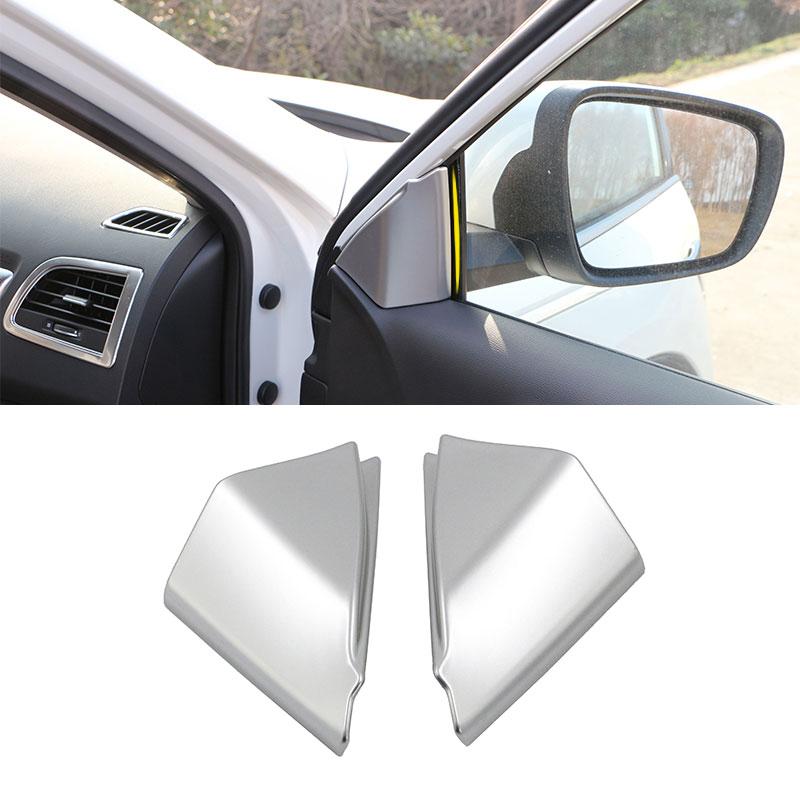 1-PAIR-ABS-Car-Inner-Matte-Front-A-Pillar-Bezel-Post-Triangle-Cover-Sticker-for-Renault