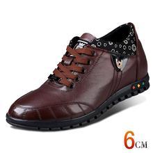 X1361 Новые Моды Случайные Кожи Теленка Повышение Повышенные Обувь со Скрытыми Каблуках Взрослый Человек Taller 6 СМ Незримо Больше Цветов