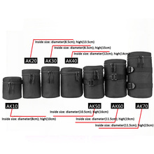 Deluxe Camera Lens Bag Waterproof Pouch for DSLR Nikon Canon Sony Olympus Case Soft Padded
