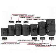 Sac dobjectif dappareil photo de luxe pochette étanche pour DSLR Nikon Canon Sony Olympus étui souple rembourré