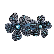 New Alexader Butterfly Hair Jewelry  Acetate Cellulose Rhinestone Hair Clips for Women Hair Accessories Barrettes Free Shipping