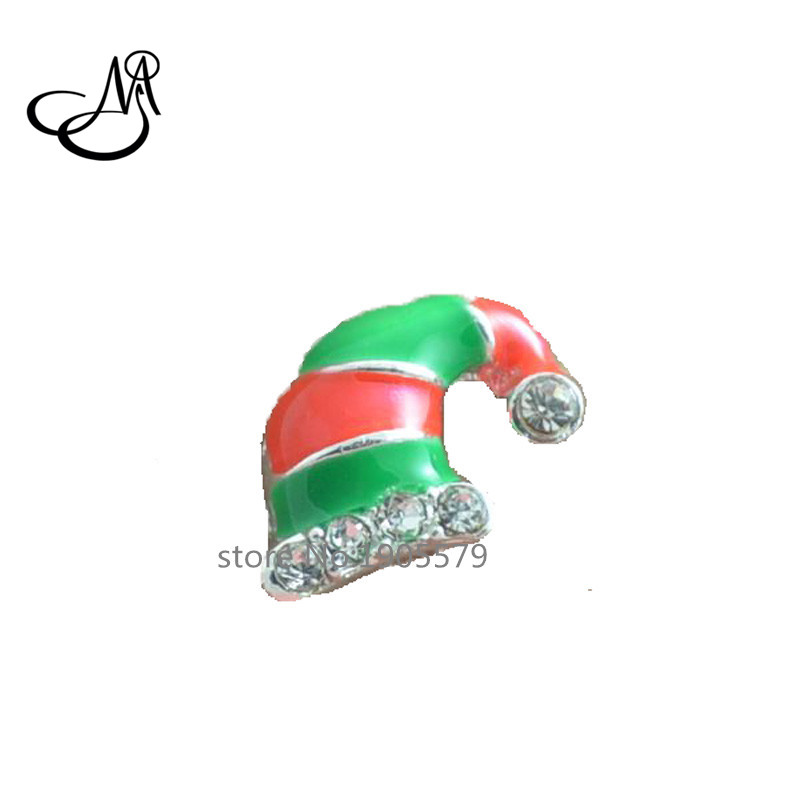 Crystal Floating Charms Christmas Hat charms for floating locket MFC1136