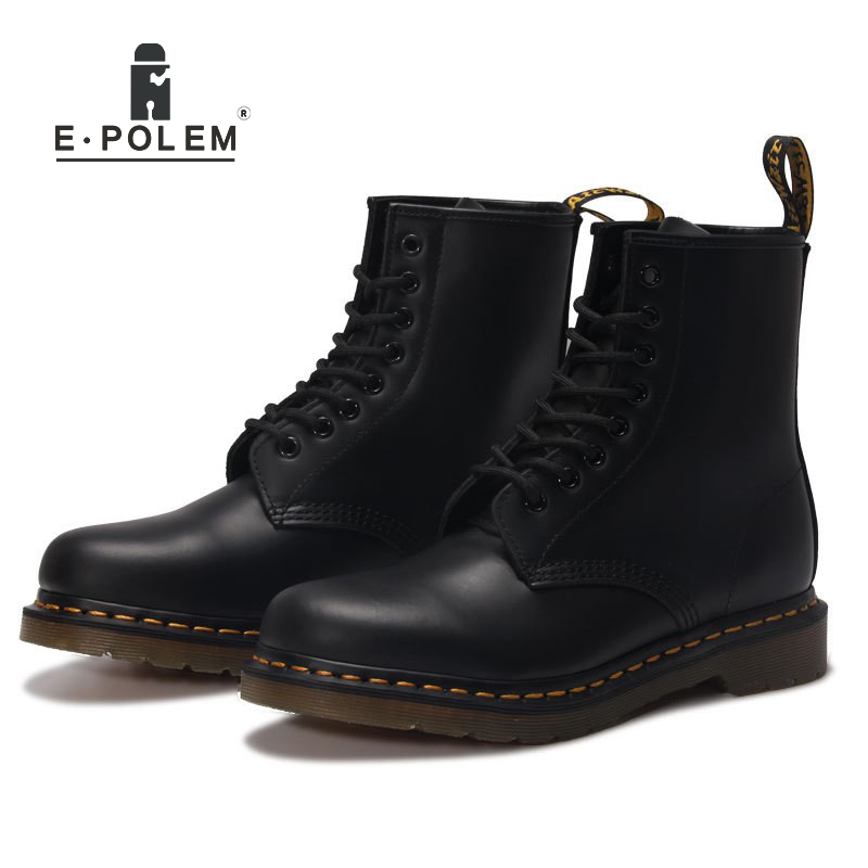Men Boots Head Layer Cowhide Genuine Leather Shoes Men's Martin Boots Unisex Winter Velvet Boots High Quality Ankle Boots spring summer women leather flat shoes 2017 sweet bowtie flats women shoes pointed toe slip on ladies shoes low heel shoes pink