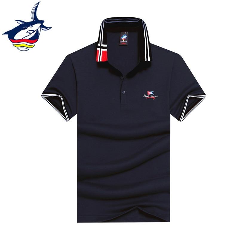 2017 New fashion polo shirt men brand Tace & Shark camisa polo Summer solid color cotton soft casual polos men shark polo homme