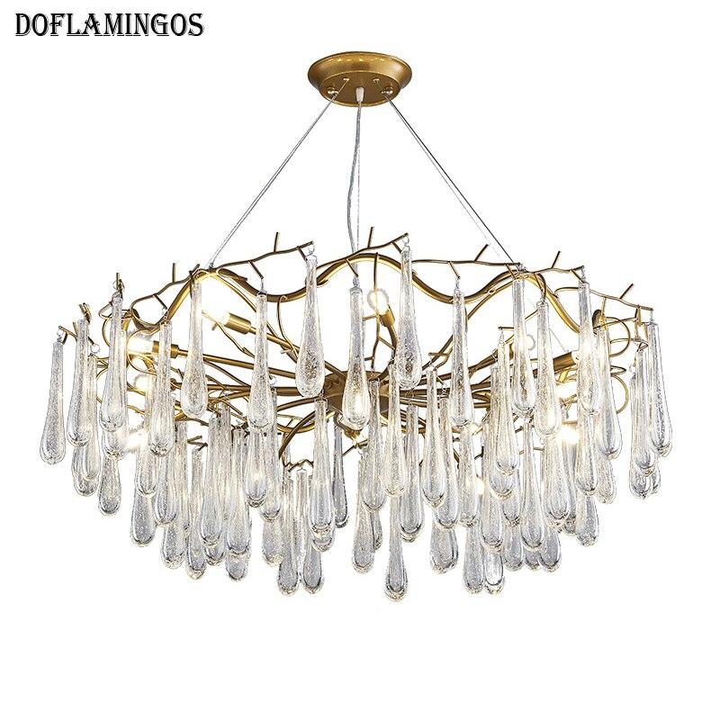 luces de cristal moderna lmpara de araa de hierro restaurante francs araa de cristal llev la