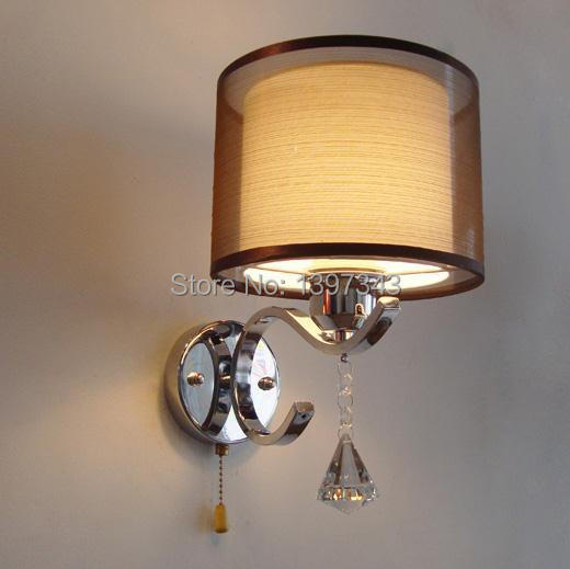 Wonderland Modern Crystal Wall Lamp Bedside Lamps Reading Lights Simple 2015 New Hot WL-201