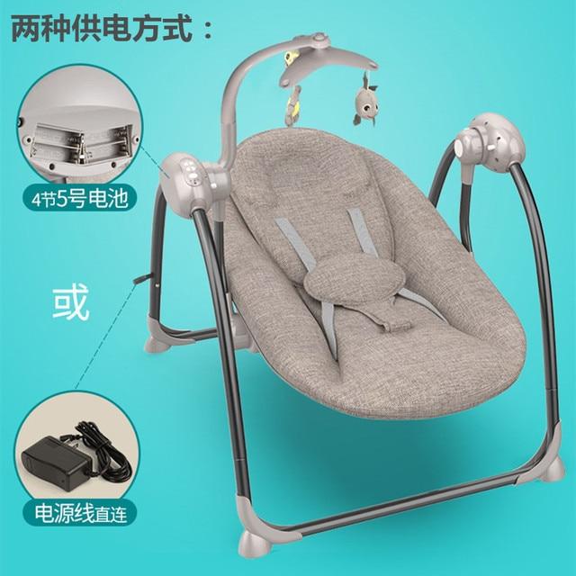 Bebé eléctrica mecedora, cuna, silla de cubierta, persuasión bebé, artefacto, dormir, recién nacido, reconfortante silla, voz temblorosa