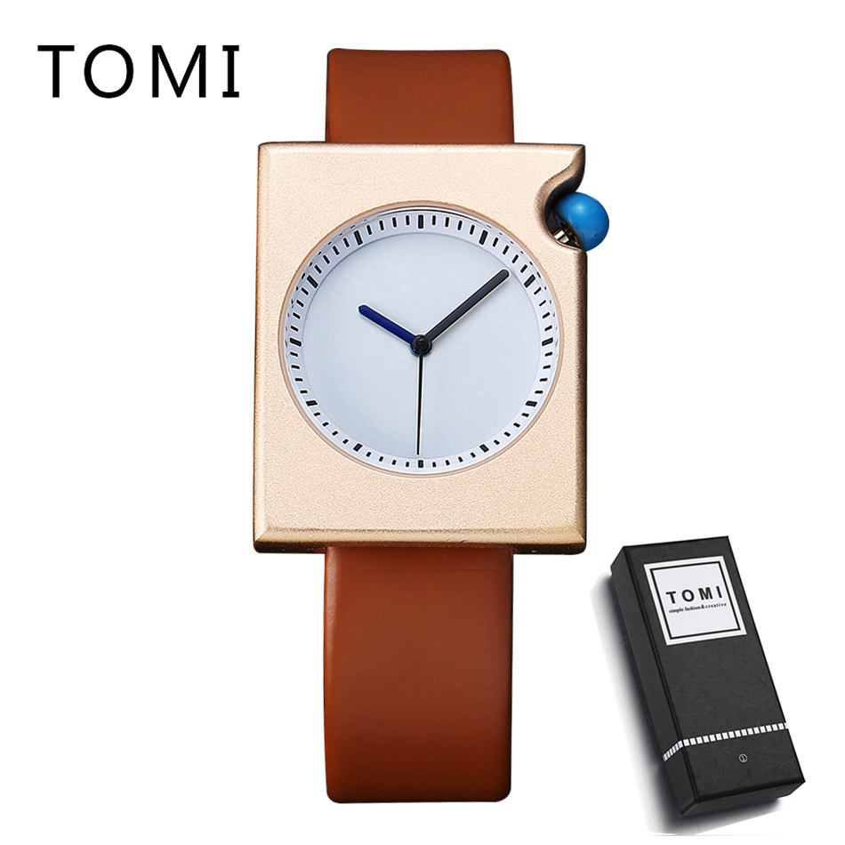 TOMI New Design Men Watch Luxury Brand Watches Quartz Clock Simple Fashion PU Leather Cheap Wistwatch Business Watch Clock new listing men watch luxury brand watches quartz clock fashion leather belts watch cheap sports wristwatch relogio male gift