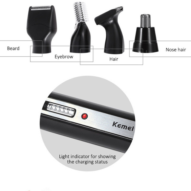4 in 1 Nose Hair Beard Eyebrow Rechargeable Electric Trimmer Electric Nose Trimmer Ear Shaver Hair Cliper 1