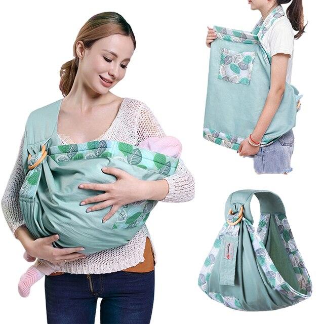 Nosidełko dla dzieci noworodek chusta podwójnego zastosowania niemowlę chusta do karmienia przewoźnik siateczkowa tkanina nosidełka do 130 funtów (0 36 M)