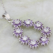 hot deal buy fashion bijoux pendants amethyst cz diamond white gold plated necklaces pendants for women jp086