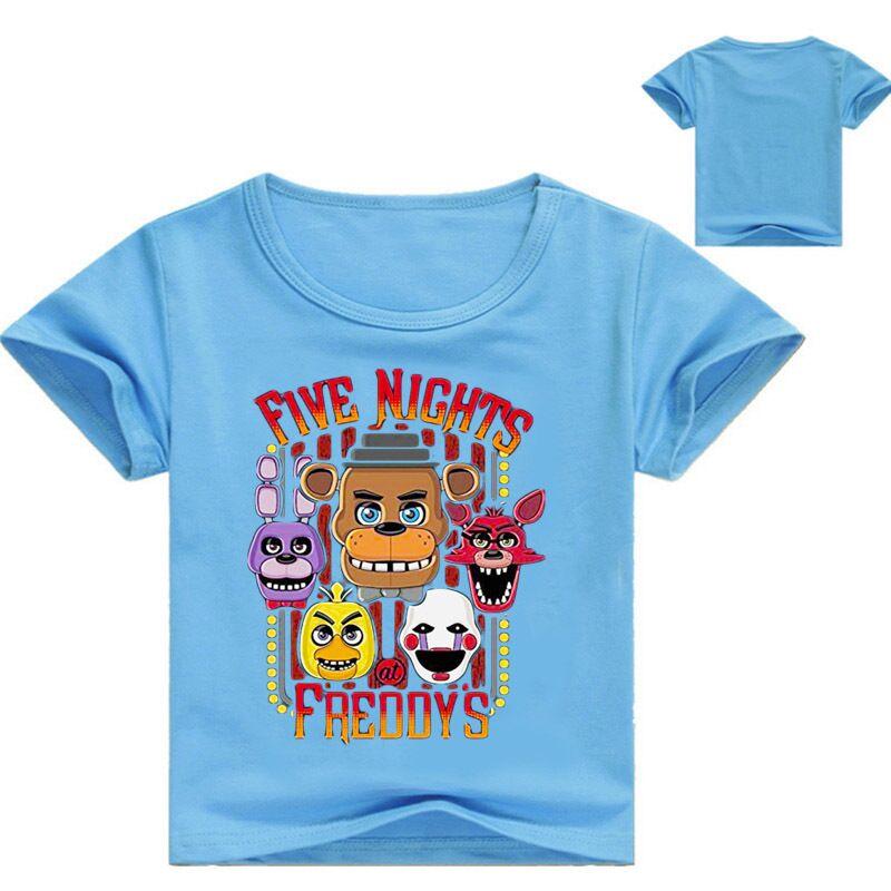 New Summer Cartoon Five Nights At Freddy Boys T Shirt Kids Clothes Children Short Sleeved T-shirts Girls Cotton Cartoon Tops Tee