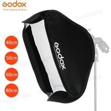 Godox 40x40 سنتيمتر 50x50 سنتيمتر 60x60 سنتيمتر 80x80 سنتيمتر طوي SoftBox Speedlite فلاش الفوتوغرافي Softbox ل S نوع قوس صالح بوينس Elinchrom جبل