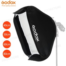 Godox 40x40cm 50x50cm 60x60cm 80x80cm מתקפל SoftBox Speedlite פלאש Softbox עבור S סוג סוגר fit Bowens Elinchrom הר