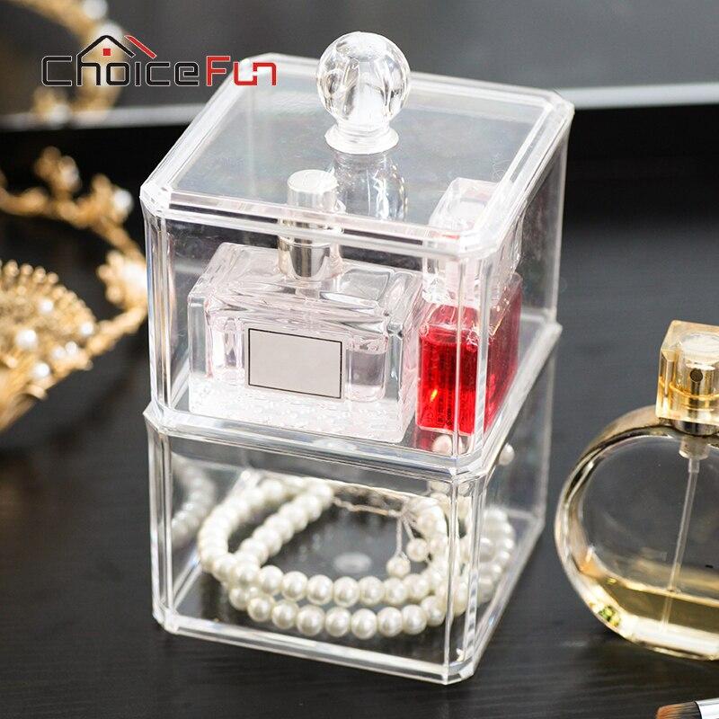 Organizer Desk-Decoration-Box Jewelry-Box Acrylic Clear FUN SF-1182 CHOICE Large Housekeeping