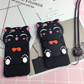 Case for Huawei P9 / P9plus / P9Lite Lucky Cat Silicone Mobile Phone Youth Falling Lanyard Cartoon Mobile Phone P 9 plus lite
