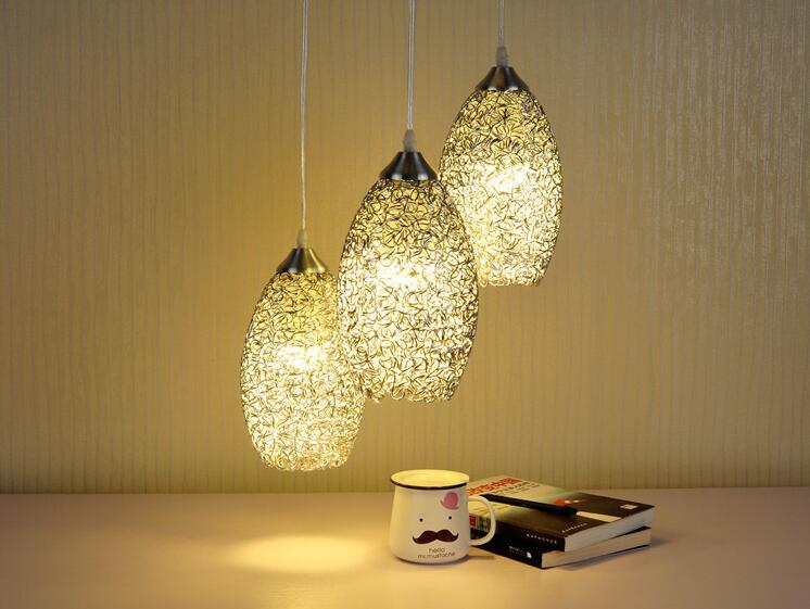 ФОТО Modern Aluminum  pendant light Lamp  E27 LED  Lights Silver color  Lamp For room  Decor , fashion pendant light