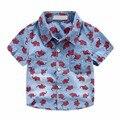 BK-513, 5pcs/lot,  bicycle, 2016 summer Children boy denim shirts, short sleeve fashion top