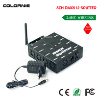 DHL Free Shipping NEW Wireless DMX 8CH DMX Splitter DMX512 Light Stage Lights Signal Amplifier Splitter