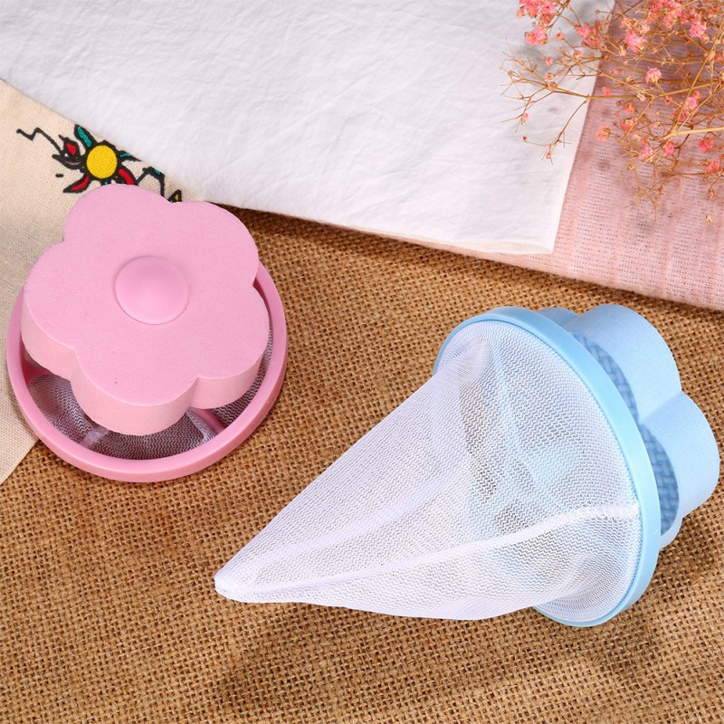 1Pcs Household Practical Durable Filter Bag Floating Style For Washing Machine Clothes Fur Filtration Round Shape