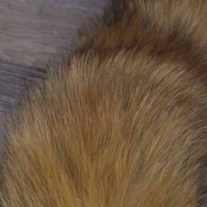 Quente Grande pele de Raposa Cauda Tassel Bag Tag Chaveiro Cadeia Strap Nova