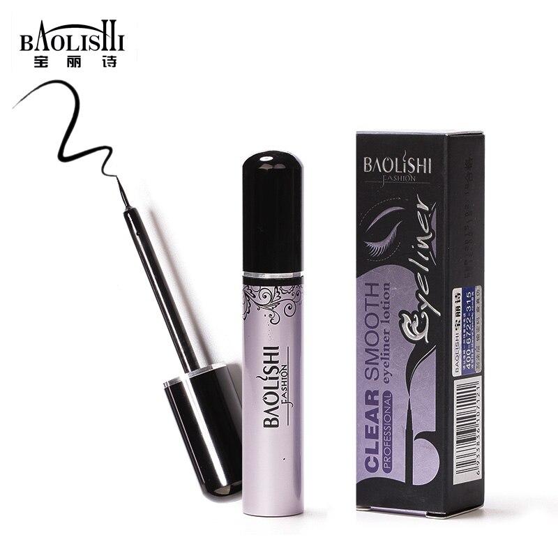 Baolishi 1 adet doğal uzun ömürlü siyah Sıvı eyeliner kalem - Makyaj