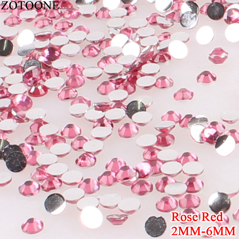4mm 5mm 3mm Sequin strass thermocollant rond hotfix ROSE