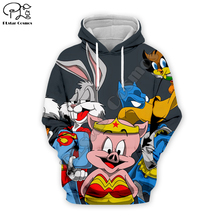 Men Bugs Bunny superhero marvel 3d hoodies looney tunes print Sweatshirt zipper unisex casual Pullover autumn teens jacket men cartoon bugs bunny 3d hoodies galaxy sweatshirt usa flag print unisex casual pullover autumn jacket tracksuit plus size