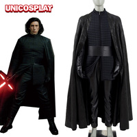 Star Wars 8 The Last Jedi Kylo Ren Cosplay Costumes Halloween Tunic Robe Uniform with Black Cape for Men Women Kids 400164