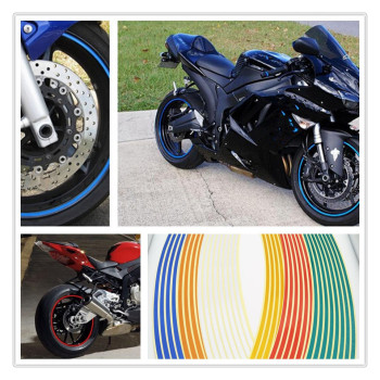 Strips Motorcycle Wheel Sticker Reflective Decals Rim Tape Bike Car Styling For YAMAHA SRX600 XJ600 BMW F800GT F800R F800S image