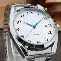 Automatic Mens Watch Marca de Moda Negócios Relógios Mecânicos de Esqueleto de Aço Inoxidável Auto-vento Relógio de Pulso Relógio Masculino LZ2101